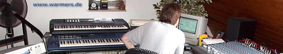 Musik & Sounds von Volker Warmers aus Mönchengladbach mit Download eigenproduzierter MP3-Songs, SoundSets für Vintage-Synthesizer, Live-WebCam u.v.m.